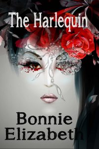 bookcover of woman with spider on face, Harlequin
